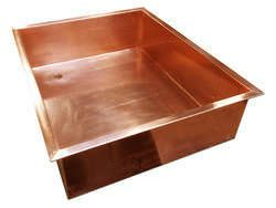 Rectangular copper sink
