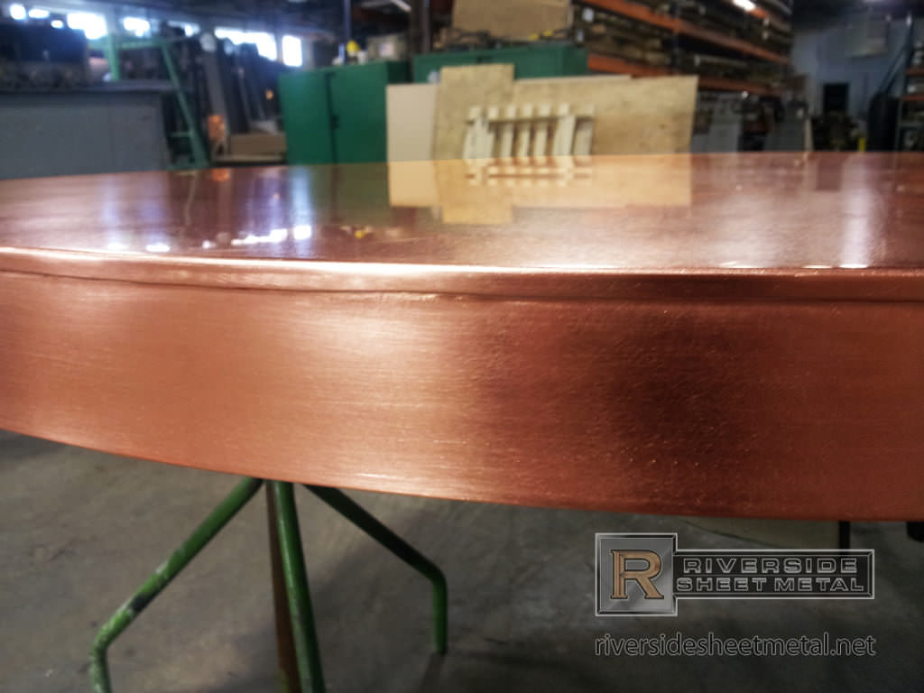 Copper counter tops are commonly fabricated with these materials