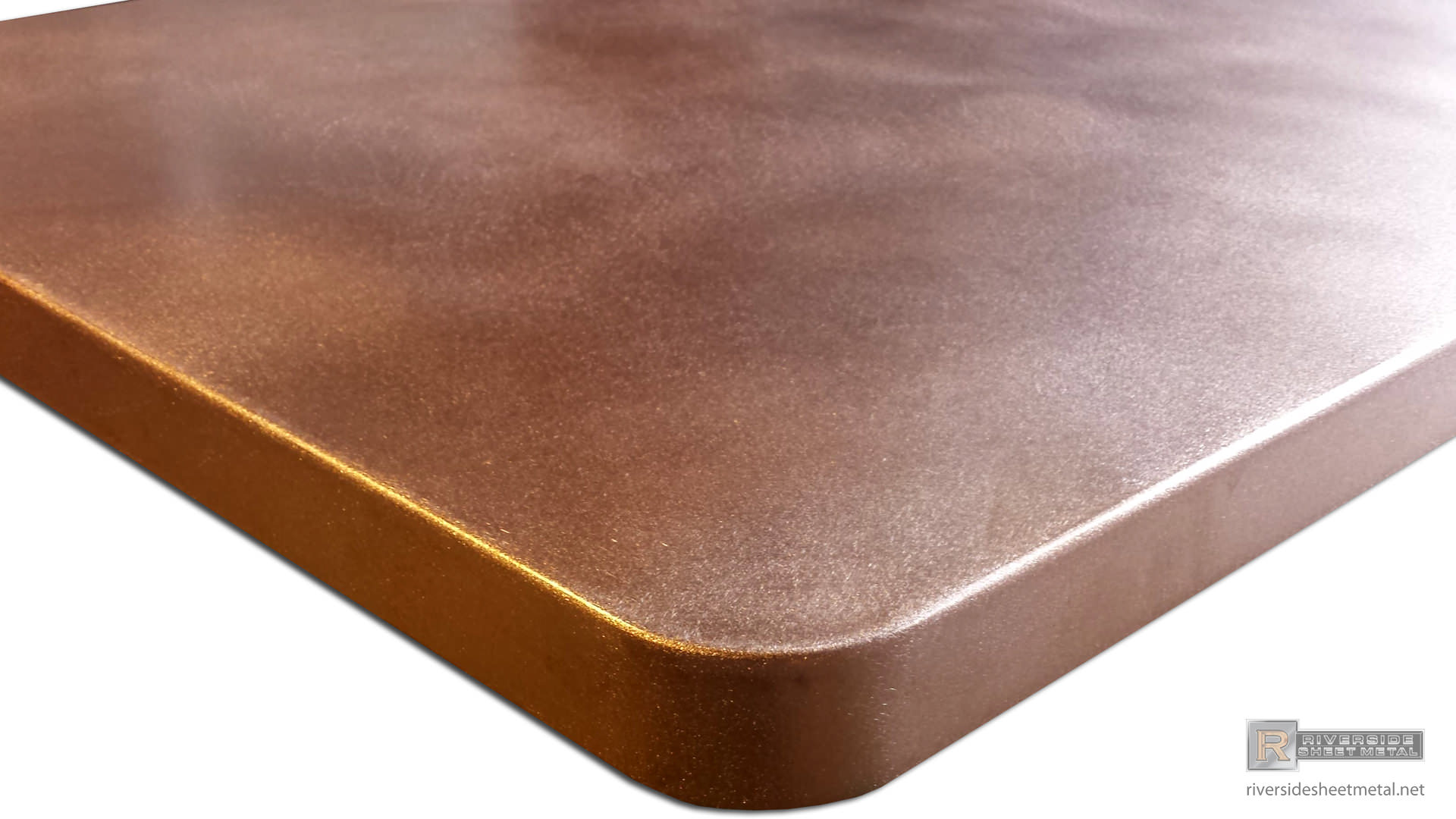 Satin Copper Island Top With Round Corners