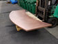 Satin finished curved copper 24 oz counter top with soldered on sides - view 3