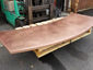 Satin finished curved copper 24 oz counter top with soldered on sides - view 4