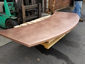 Satin finished curved copper 24 oz counter top with soldered on sides - view 6