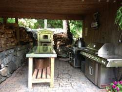 Stainless steel top for outdoor kitchen
