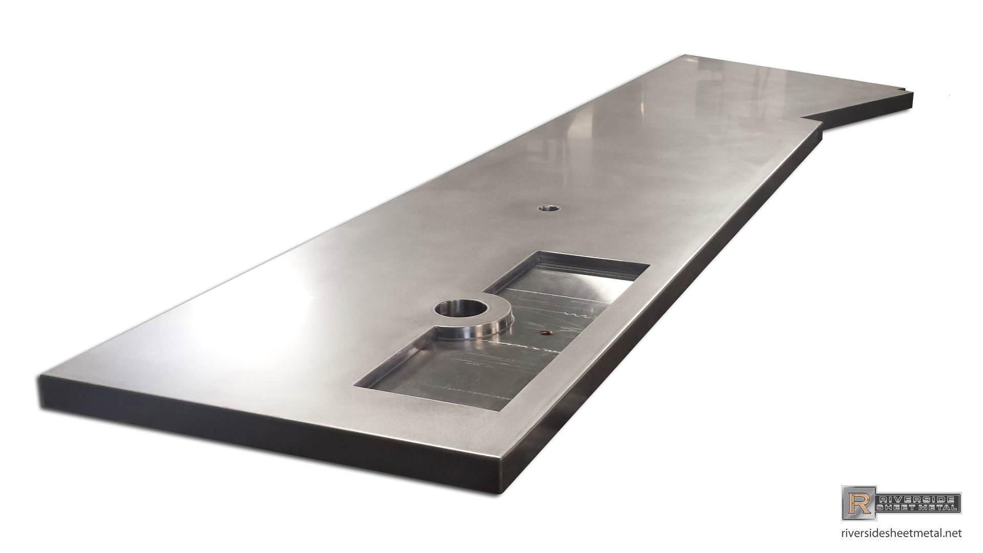 Stainless Steel Bar Top With Beer Tap Tray