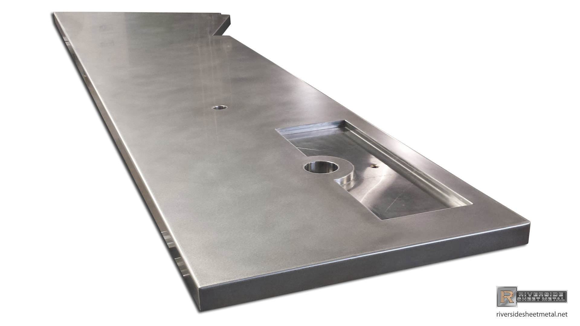 Stainless Steel Bar Top With Beer Tap Tray   View 2 ...
