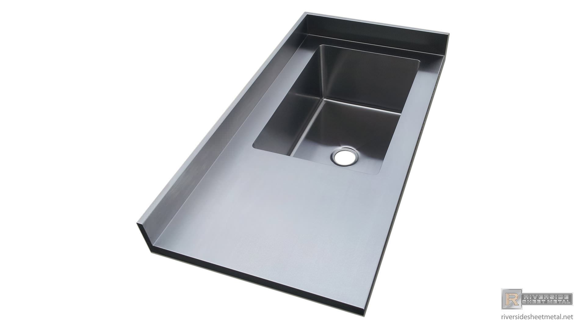 countertops sink counter finish integrated sinks steel countertop with stainless top us of