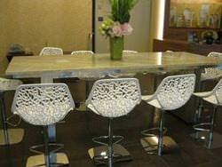 Stainless steel #4 finish frame for custom granite table