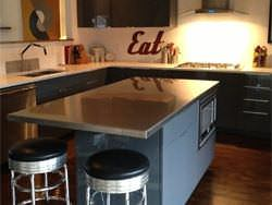 Stainless steel satin finish kitchen island counter top