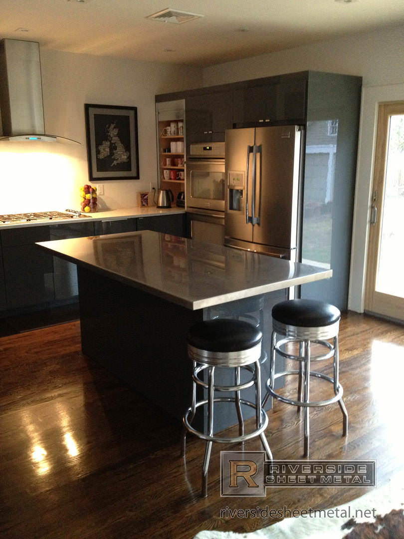 stainless steel counter tops - kitchen, island, bar - boston, ma