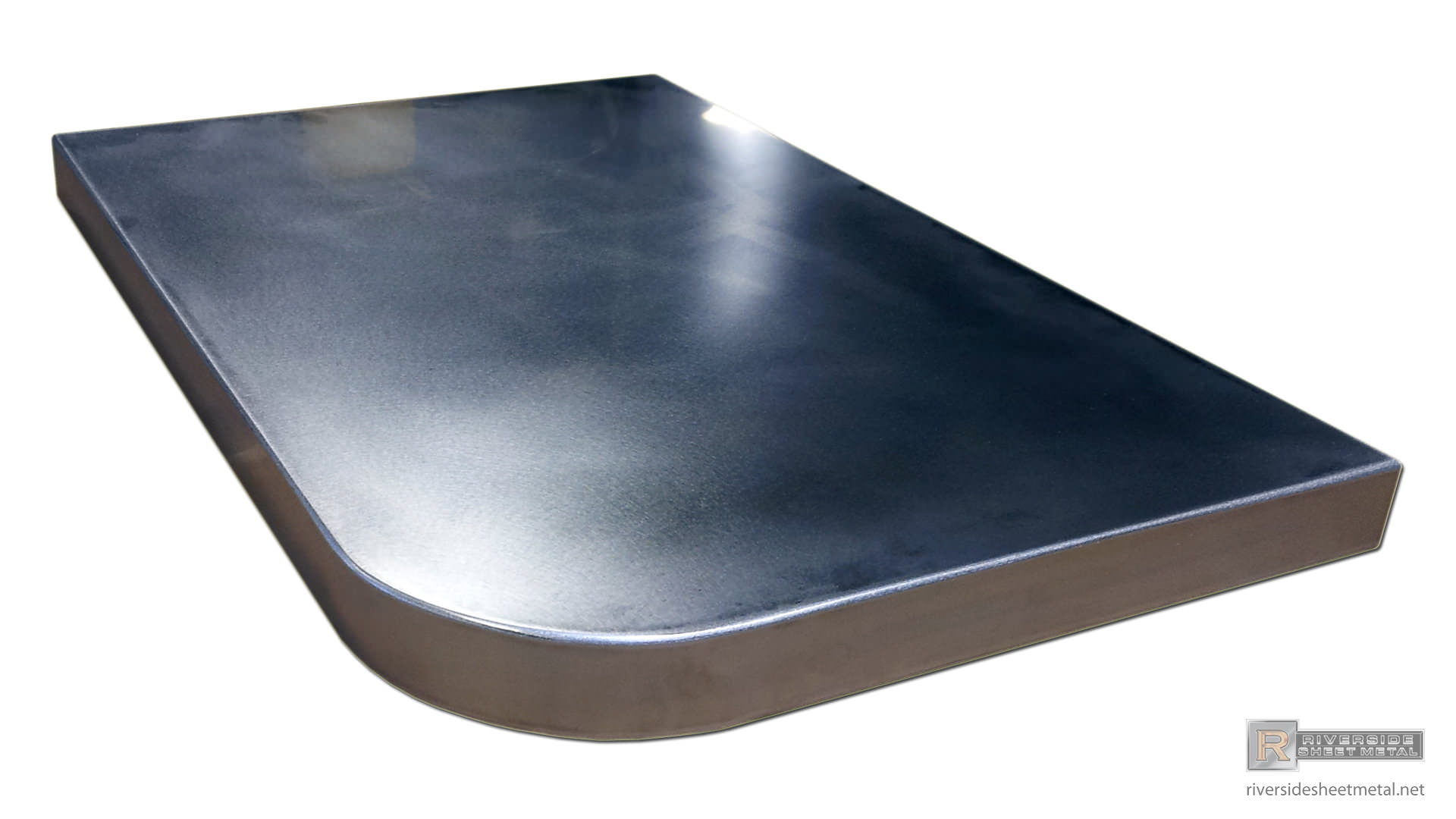 Round Corner Counter Top Stainless Steel