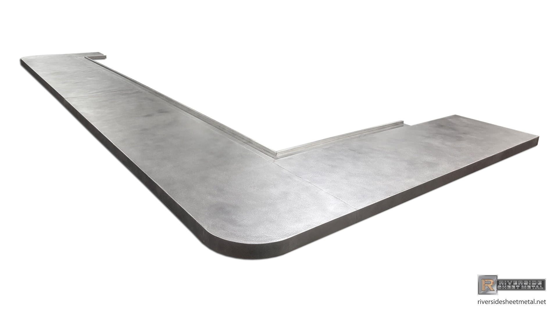 ... Zinc Bar Top With Drink Rail And Butt Joints   View 7 ...