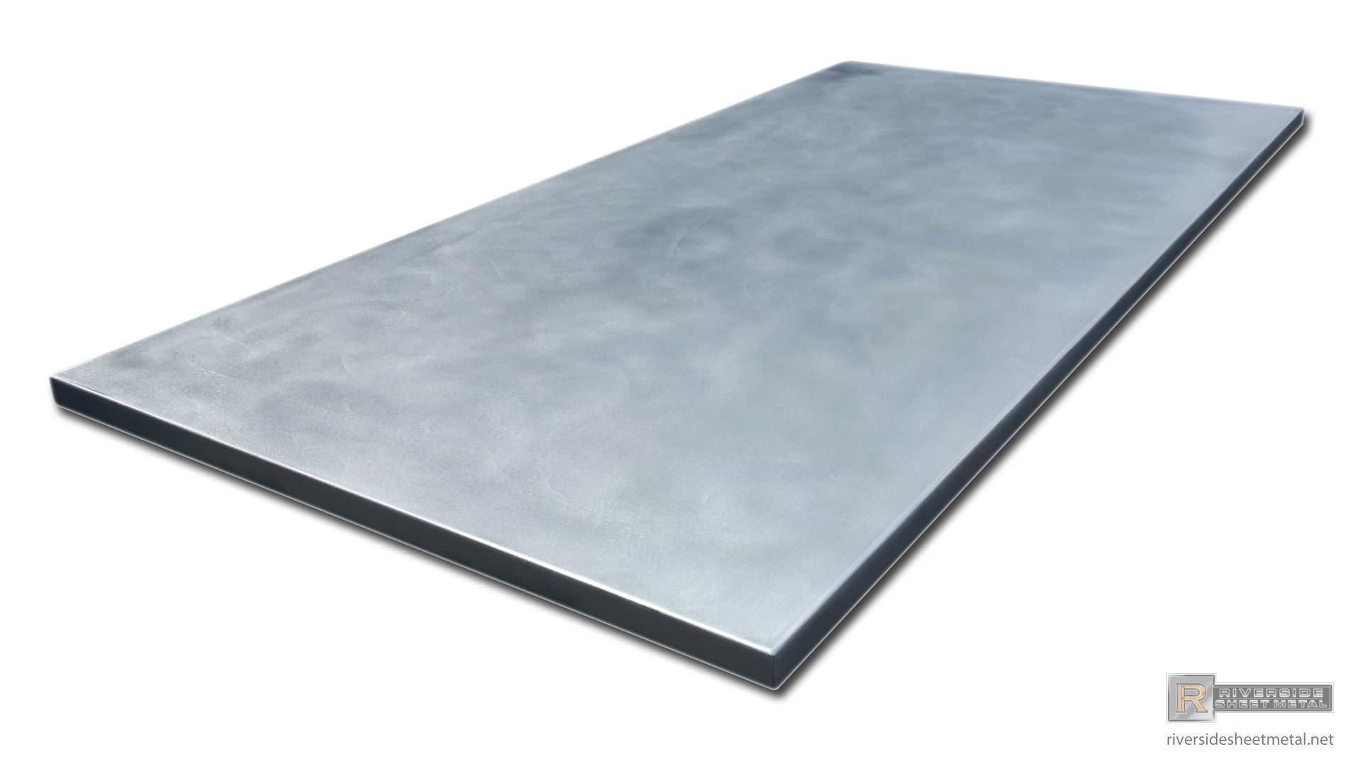 Zinc Island Counter Top With A Satin Finish Custom Made