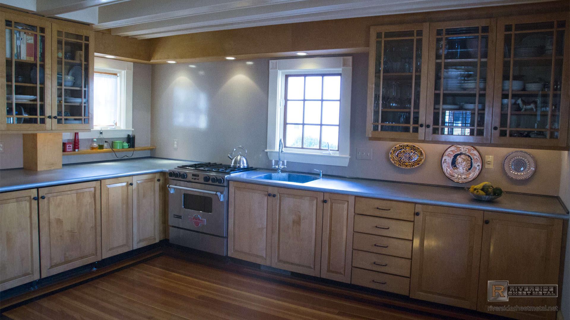Zinc Kitchen Island Countertops