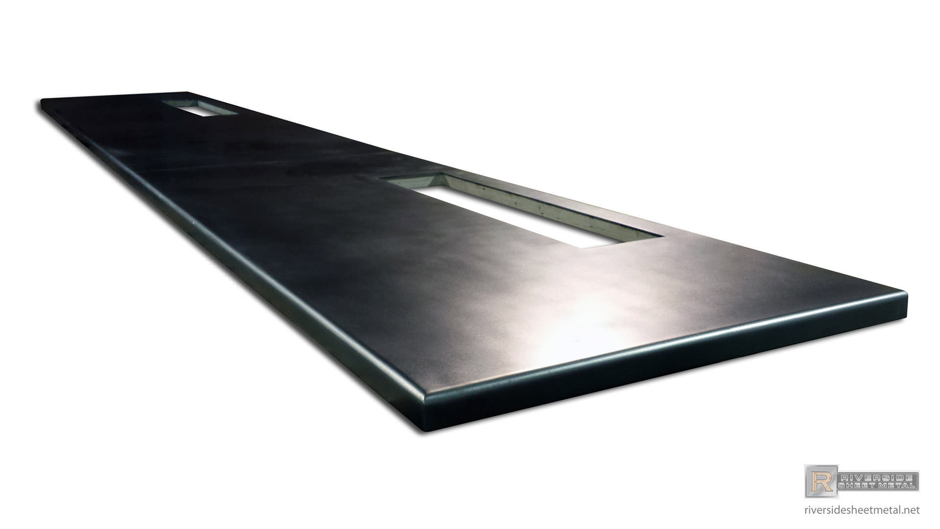 Zinc Bar Top With Satin Finish And Round Edges ...