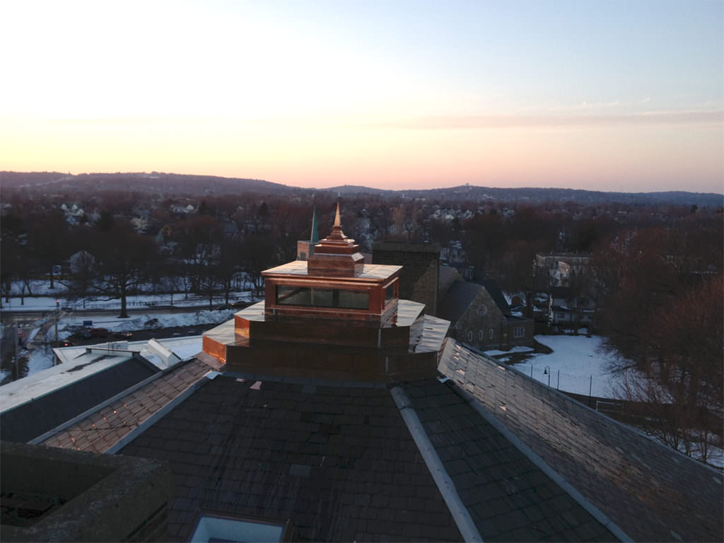 Copper cupola with pyramid finial - view 2