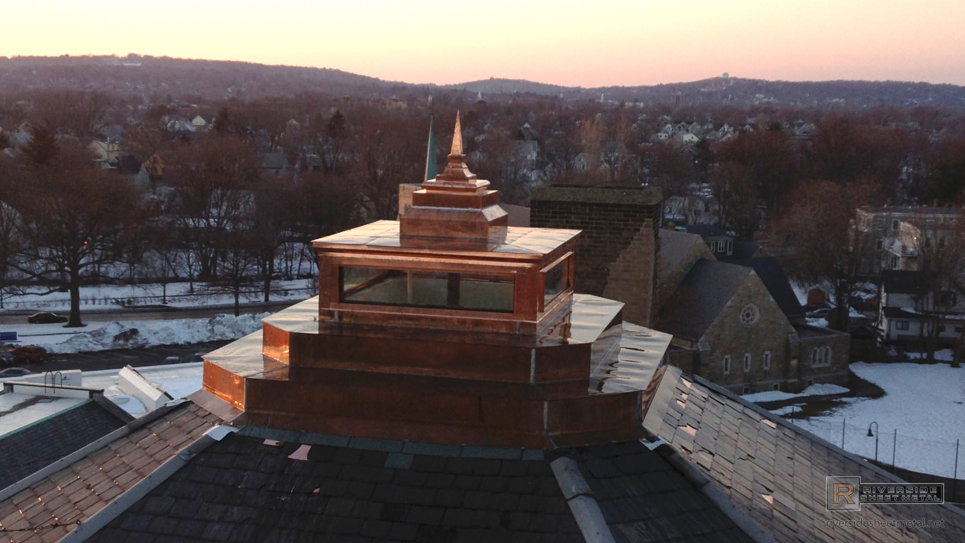 Copper cupola with pyramid finial - view 1