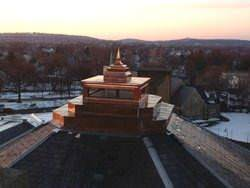 Copper cupola with pyramid finial
