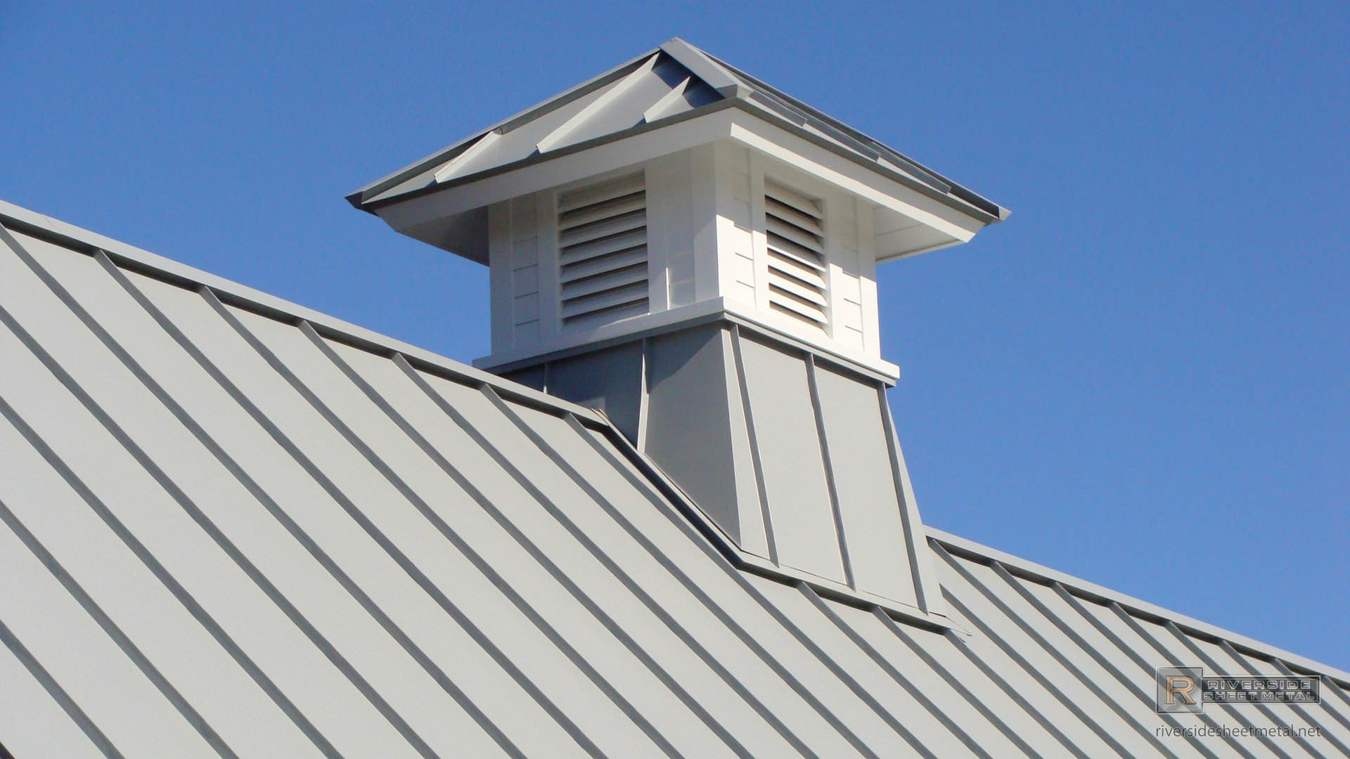 Aluminum Metal Siding : Gray aluminum cupola on metal roof riverside boston ma