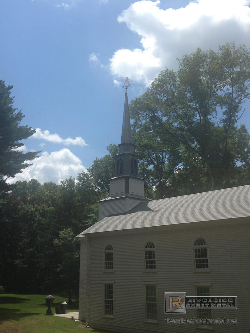 Lead Coated Copper Steeple With Weathervane Boston