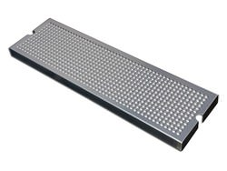 Beer tap drip tray insert with finger holes - stainless steel
