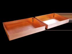 Hemmed copper drip pans