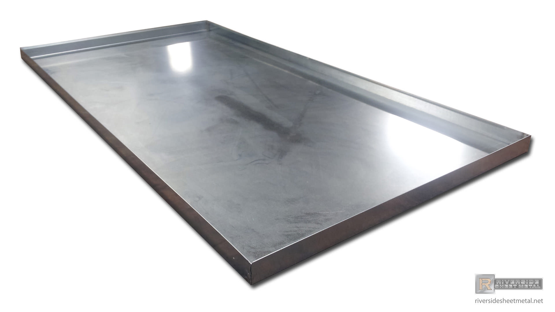 Drip Pan For Ac Unit In Galvanized Steel With Hem