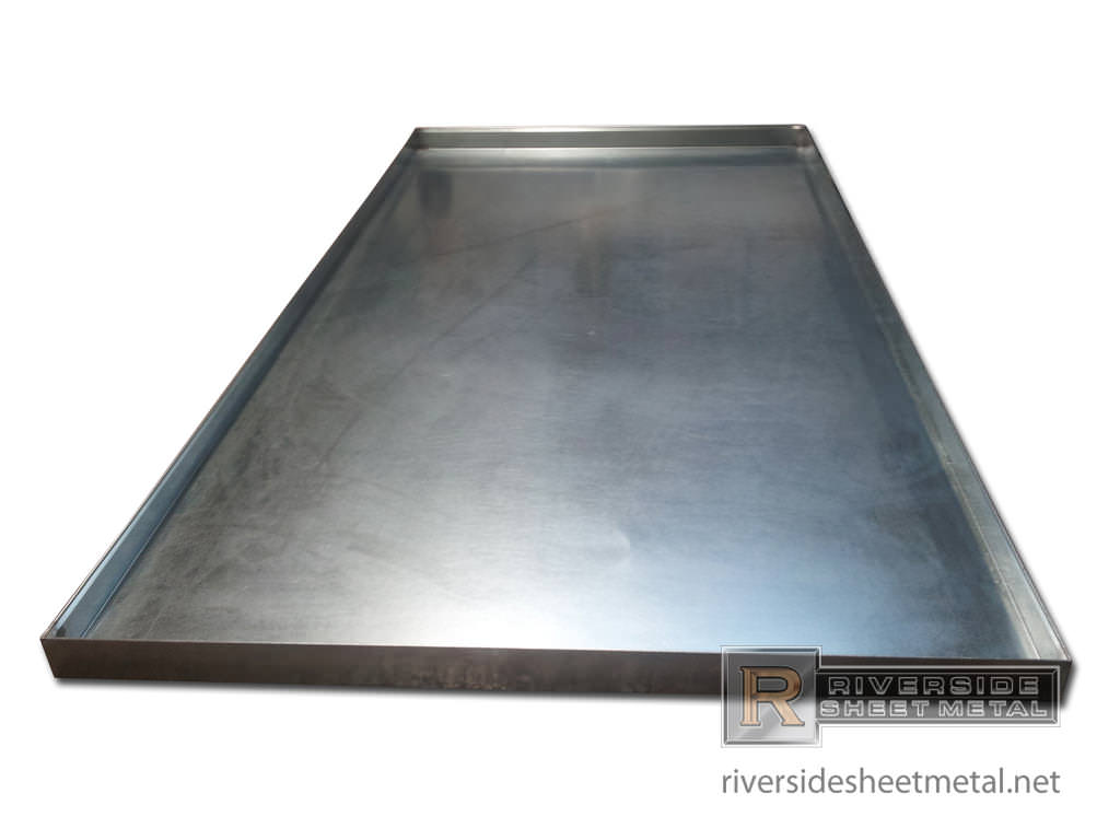 Galvanized Pan With Soldered Corners Shipping Available