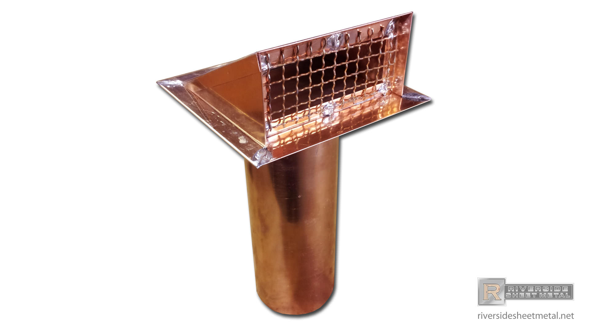 Copper Dryer Vent With Flapper Installed Dryer Vents