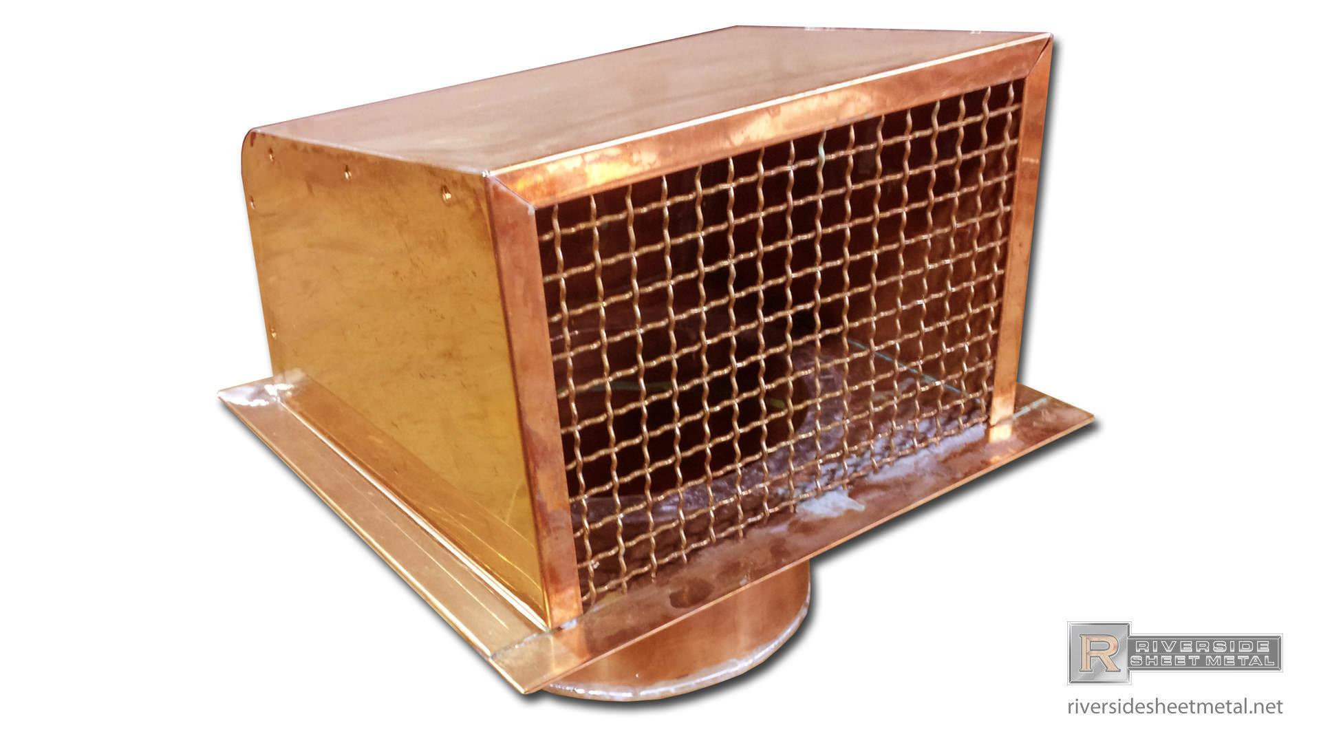 Dryer Vents Custom Fabricated Copper Freedom Gray Aluminum