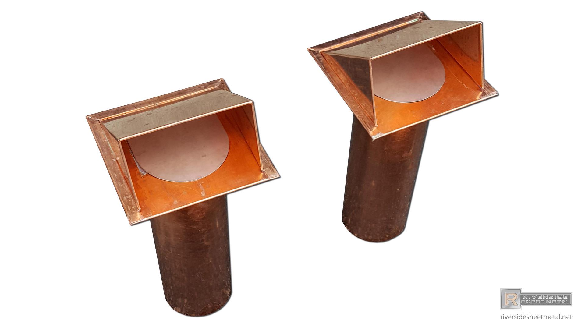 Custom Copper Dryer Vents Without Screen With Flapper