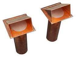 Copper dryer vents without screen with flapper