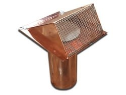 Copper pipe vent with flapper