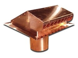 Custom static copper dryer vent with flapper