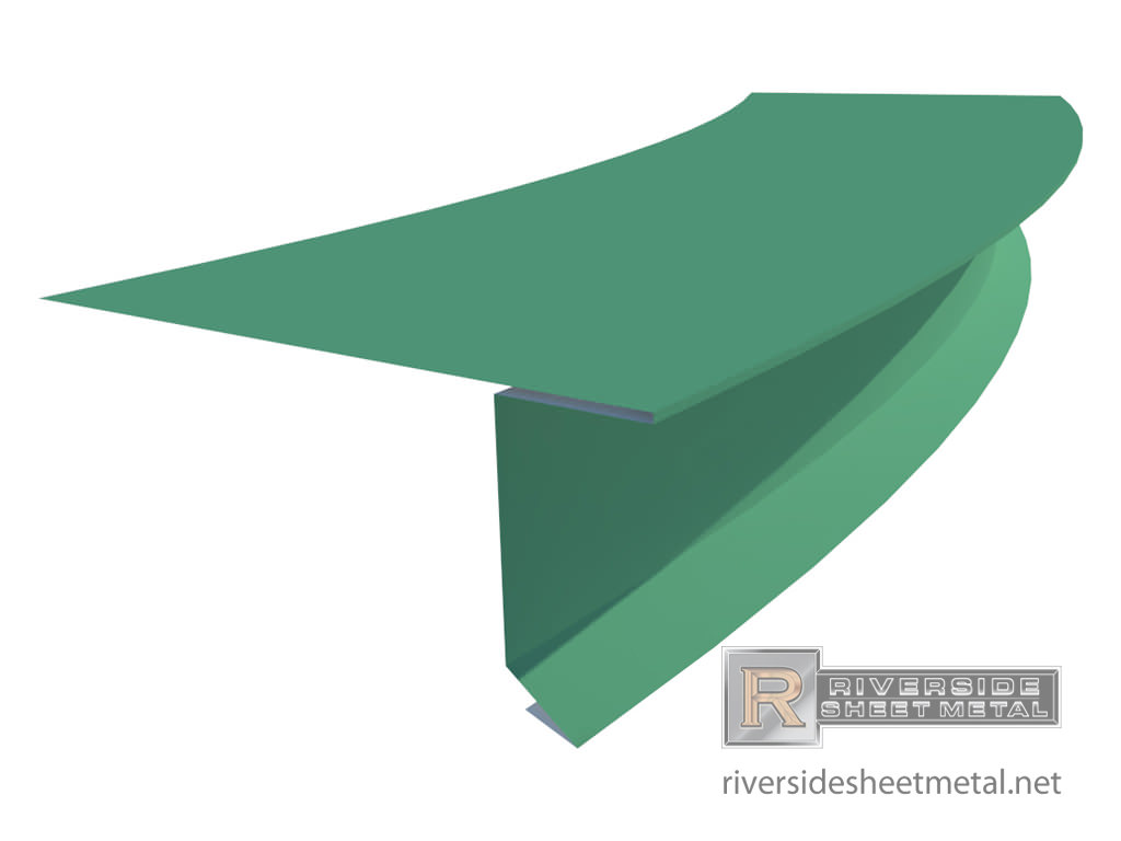... Radius Drip Edge With Hem For Metal Roofing   Profile View 1 ...