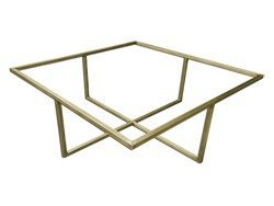 Antique brass tube table frame