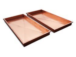 Copper ice trays for food