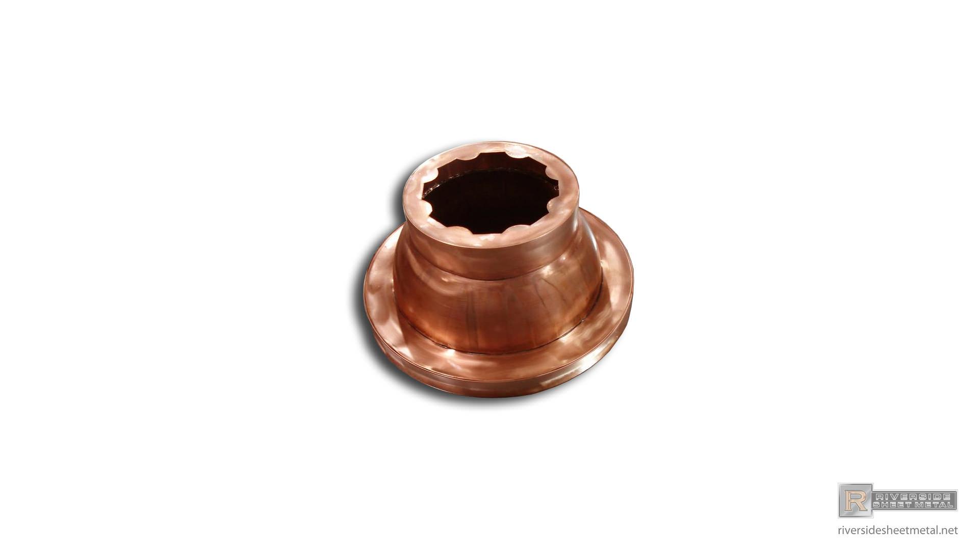 Copper Pillar Riverside Sheet Metal Medford Ma