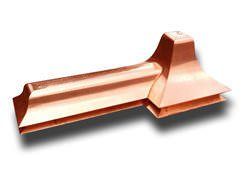 Custom copper finial and ridge cap