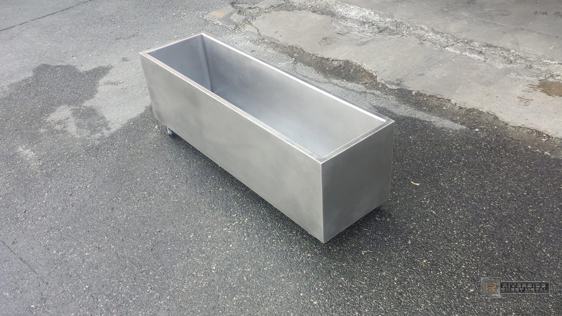 Custom Stainless Steel Metal Cooler On Wheels Riverside
