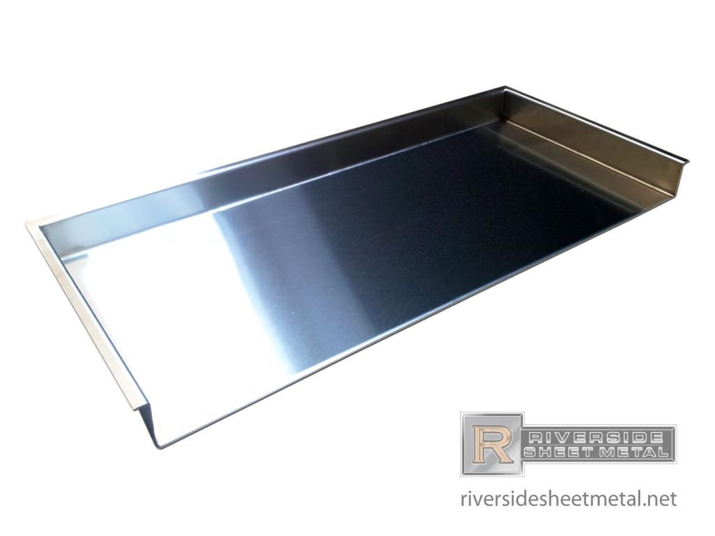 Custom Stainless Steel Number 4 Finish Shelf