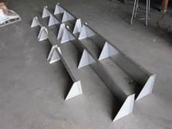Stainless steel custom made shelves