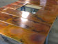 Burnished copper wall panels for fireplace surround - view 2
