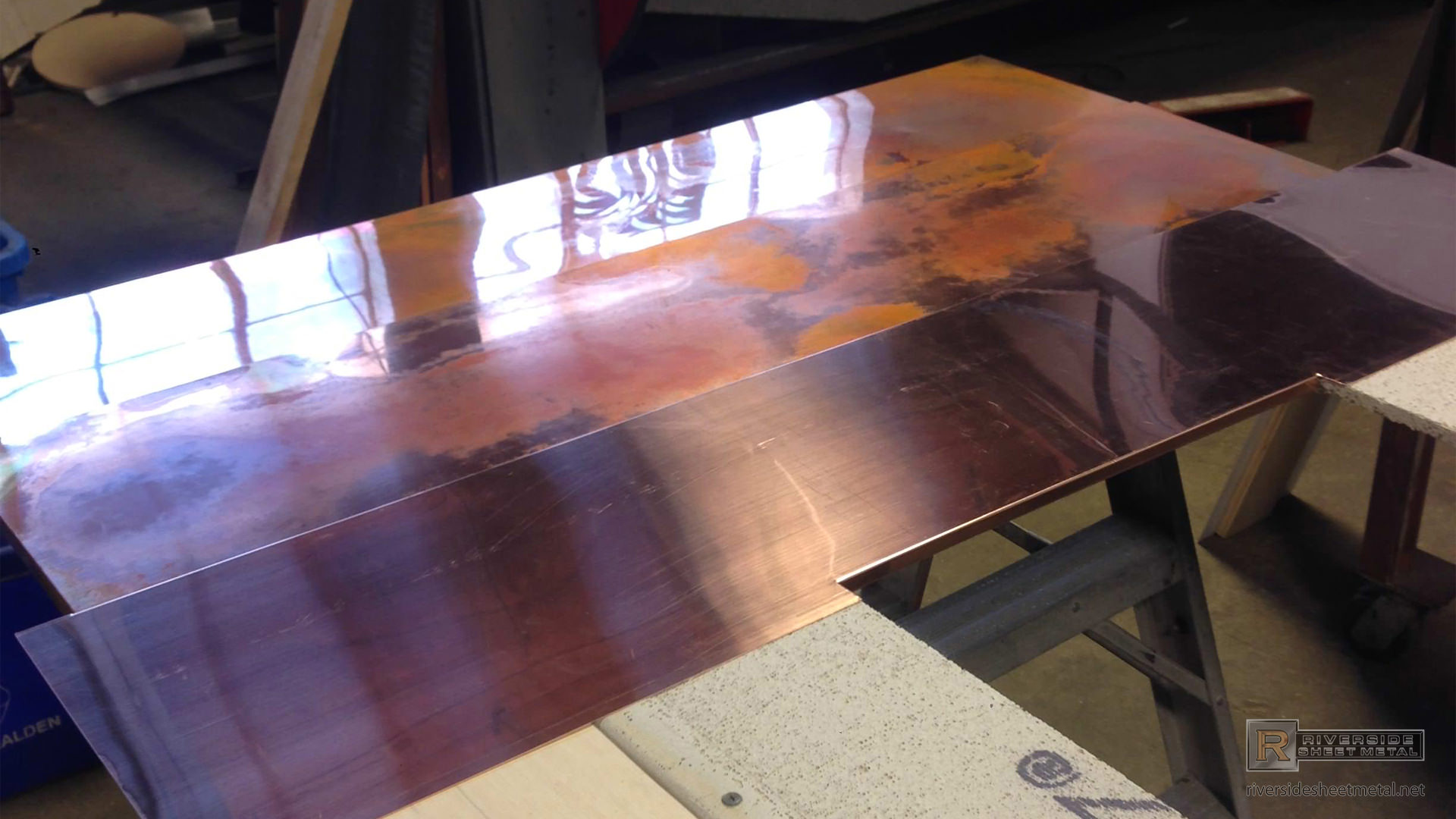 Burnished Copper Wall Panels For Fireplace Surround View 5