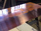 Burnished copper wall panels for fireplace surround - view 5