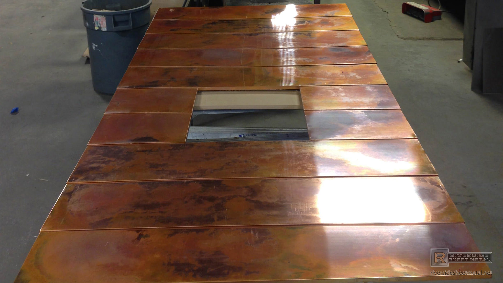 Burnished Copper Wall Panels For Fireplace Surround View 6