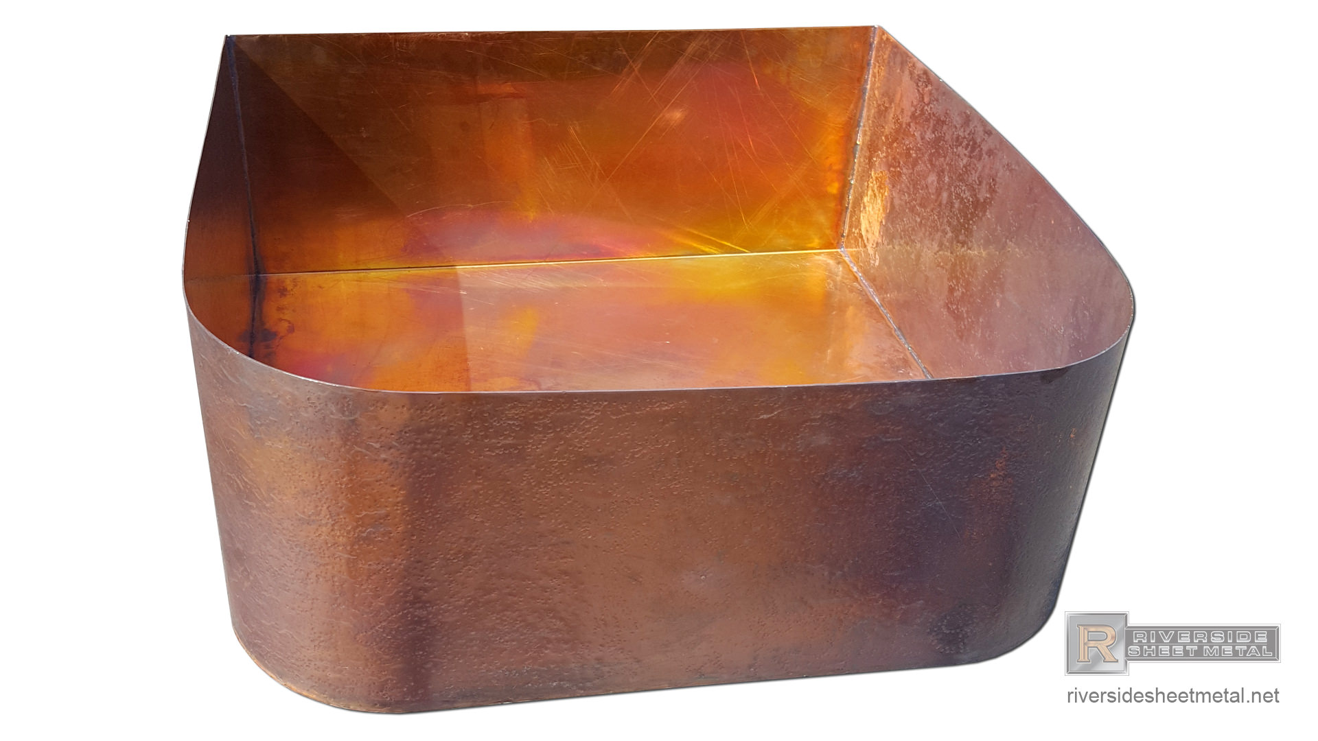 Hammered Copper Fountain Base Riverside