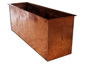 Firewood storage box made with hand hammered copper - view 4