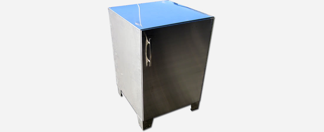 Stainless steel custom cabinet - 1
