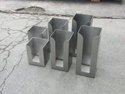 Stainless steel menu holders for restaurant
