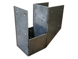 Steel bracket for wooden beams